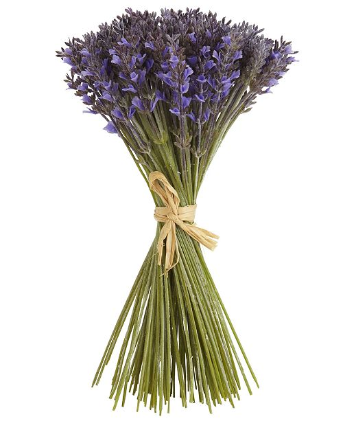 "Nearly Natural 19"" Lavender Artificial Flower Bundle with 144 Individual Flowers"