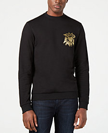 Versace Men's Classic-Fit Metallic Logo Sweatshirt