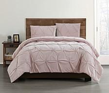 Everyday Pleated Velvet Comforter Sets