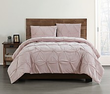 Truly Soft Everyday Pleated Velvet Comforter Sets