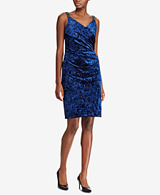 Lauren Ralph Lauren Sequin-Trim Velvet Dress