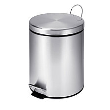 Honey Can Do 5L Round Stainless Steel Step Can