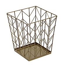 Chevron Wire Waste Basket