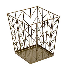Honey Can Do Chevron Wire Waste Basket