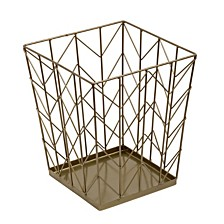 Honey Can Do Chevron Wire Waste Basket