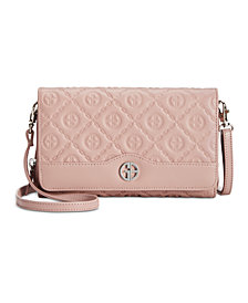 Giani Bernini Logo Embossed Crossbody Wallet, Created for Macy's