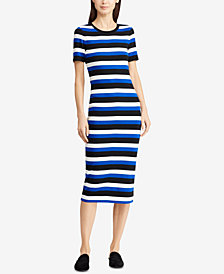 Lauren Ralph Lauren Striped Cotton Midi Dress