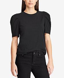 Lauren Ralph Lauren Petite Puff-Sleeve Cotton T-Shirt