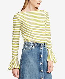 Lauren Ralph Lauren Bell-Sleeve Cotton Top