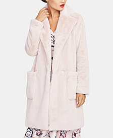 RACHEL Rachel Roy Faux Fur Notched-Collar Jacket