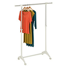 Honey Can Do Modern Adjustable Garment Rack, White