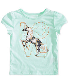 Epic Threads Little Girls Love Unicorn T-Shirt, Created for Macy's