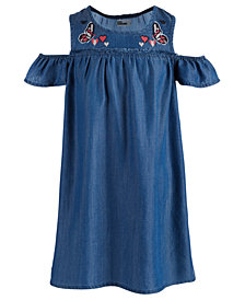 Epic Threads Toddler Girls Embroidered Cold Shoulder Dress, Created for Macy's