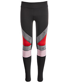 Ideology Big Girls Colorblocked Leggings, Created for Macy's