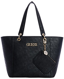 GUESS Kamryn Debossed Logo Tote With Pouch