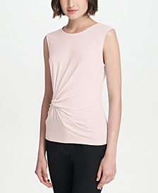 DKNY Sleeveless Side-Knot Top, Created for Macy's