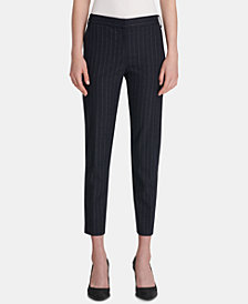DKNY Pinstriped Skinny Ankle Pants, Created for Macy's