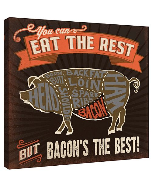PTM Images Bacon Decorative Canvas Wall Art