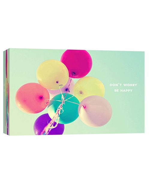 PTM Images Worry, Be Happy Decorative Canvas Wall Art
