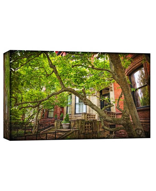 PTM Images Bay Row Houses Decorative Canvas Wall Art