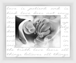Living 311 Corinthians 13 decorative Photo Frame
