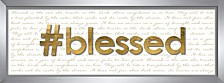 Living31 Blessed Decorative Wall Art
