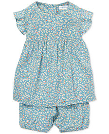 Polo Ralph Lauren Baby Girls Floral-Print Top & Shorts Set