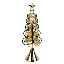 """18"""" Gold Bell Tree Table Decor"""