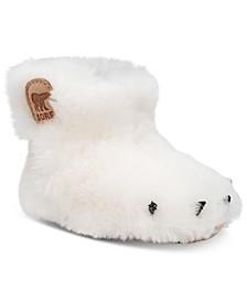 Baby Girls Bear Paw Waterproof Slippers