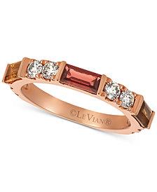 Le Vian Baguette Frenzy™ Multi-Gemstone (7/8 ct. t.w.) & Nude™ Diamond (5/8 ct. t.w.) Ring in 14k Rose Gold