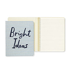 Kate Spade New York Concealed Spiral Notebook, Bright Ideas Seersucker