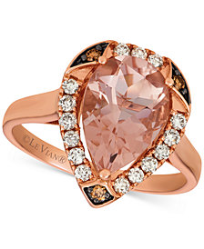 Le Vian® Morganite (2-1/3 ct. t.w.) & Diamond (1/3 ct. t.w.) Ring in 14k Rose Gold