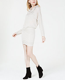 Free People Sundown Cowlneck Cinch-Up Dress
