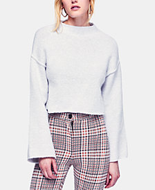 Free People Lost In A Forest Chenille Cropped Sweater