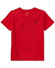Toddler Boys Cotton Jersey V-Neck T-Shirt
