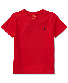 Ralph Lauren Toddler Boys V-Neck Tee