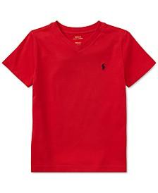 Polo Ralph Lauren Toddler Boys Cotton Jersey V-Neck T-Shirt