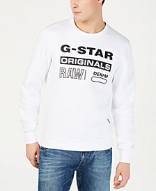 G-Star RAW Mens Graphic Logo Sweatshirt, Created For Macy's