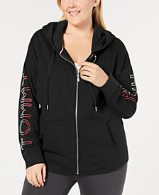 Tommy Hilfiger Sport Plus Size Zip-Front Hooded Sweatshirt
