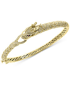 EFFY® Diamond Dragon Bangle Bracelet (1-3/4 ct. t.w.)  in 14k Gold