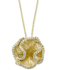 "EFFY® Diamond Petal 18"" Pendant Necklace (3/4 ct. t.w.) in 14k Gold"
