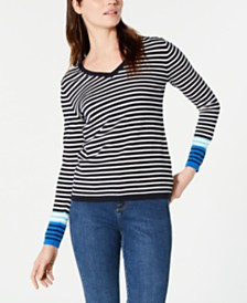 Tommy Hilfiger Cotton Breton Stripe Ivy Sweater, Created for Macy's
