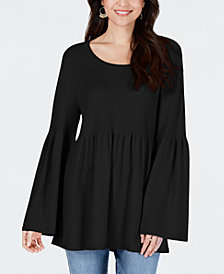 Style & Co Babydoll Angel-Sleeve Sweater, Created for Macy's