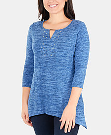 NY Collection Embellished Tunic Top