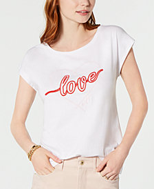 Tommy Hilfiger Cotton Love Graphic T-Shirt, Created for Macy's