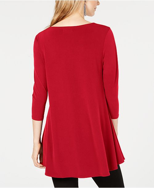 31a76f7be26 Alfani High-Low Tunic, Created for Macy's & Reviews - Tops - Women ...