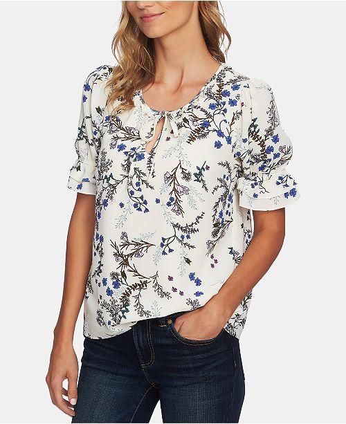 269f719c9ae4d9 CeCe Floral Vine Ruffled Top   Reviews - Tops - Women - Macy s