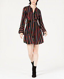 Bar III Striped Tie-Waist Dress, Created for Macy's