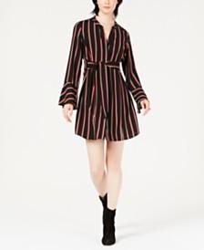 Bar III Striped Tie-Waist Dress, Created for Macy's