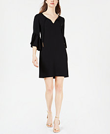 Trina Turk Bell-Sleeve Crepe Dress